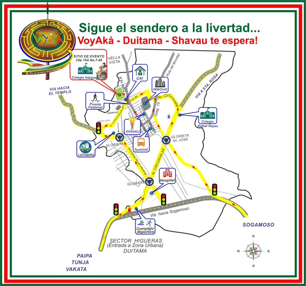 mapa como llegar al evento logo